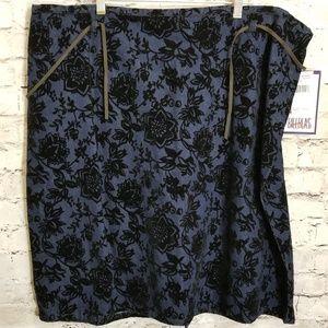 Bill Blass Plus Size Cotton Skirt